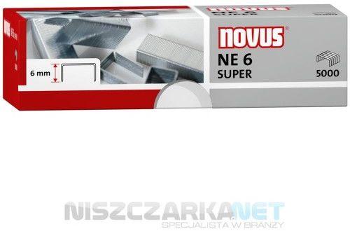 ZSZYWKI NOVUS NE6 SUPER x 5000 do zszywaczy elektrycznych