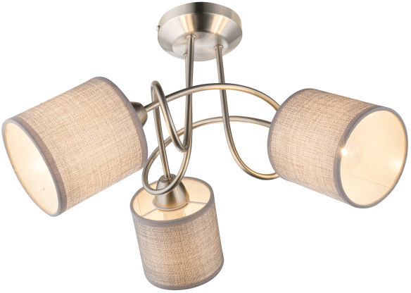 Globo PACO 15185-3D plafon lampa sufitowa szary 3xE14 25W 46cm