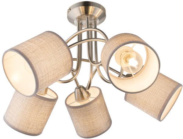 Globo PACO 15185-5D plafon lampa sufitowa szary 5xE14 25W 46cm