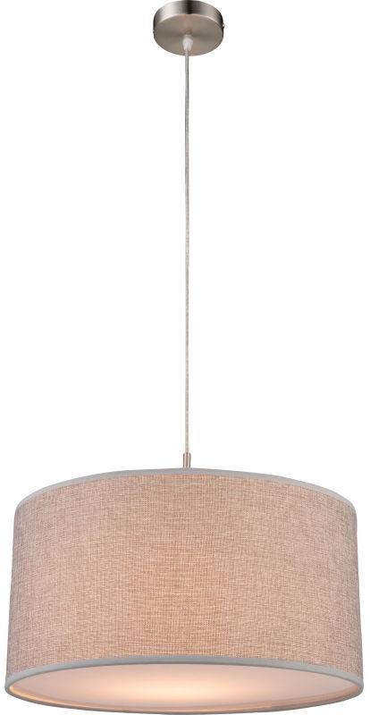 Globo PACO 15185H lampa wisząca szary 1xE27 60W 40cm
