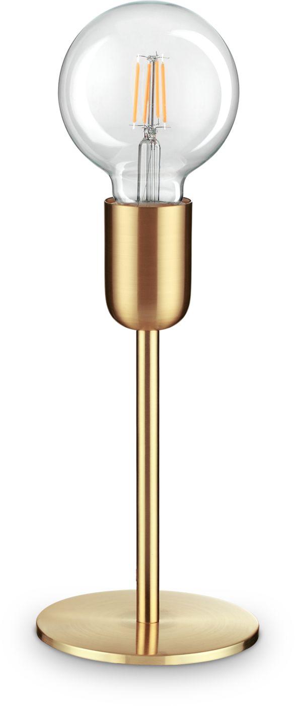 Lampa stołowa Microphone 232546 Ideal Lux nowoczesna oprawa w kolorze mosiądzu