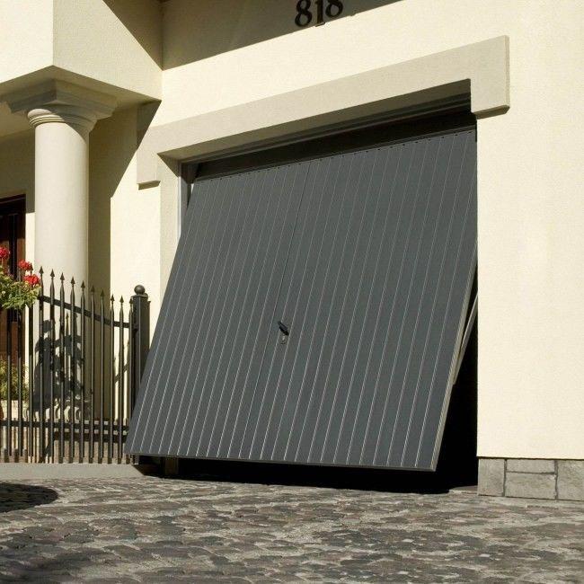 Brama garażowa uchylna 2375 x 2000 mm antracyt