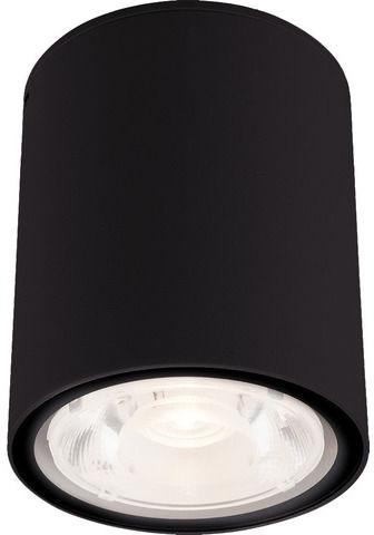 Plafon zewnętrzny Edesa LED M 9107 Nowodvorski Lighting czarna oprawa w kształcie tuby
