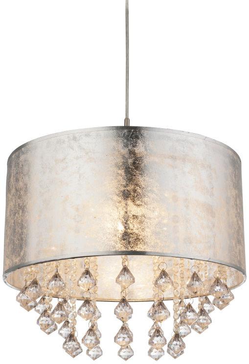 Globo AMY I 15188H3 lampa wisząca srebrna 1xE27 60W 40cm