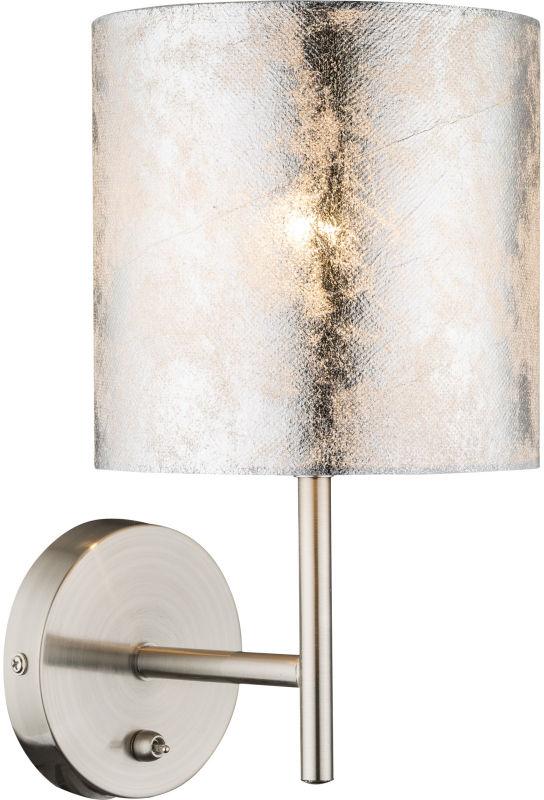 Globo AMY I 15188W kinkiet lampa ścienna srebrny 1xE14 40W 26cm