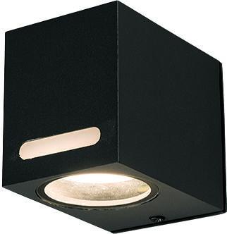Kinkiet zewnętrzny Assos 9123 Nowodvorski Lighting czarna oprawa w kształcie kostki