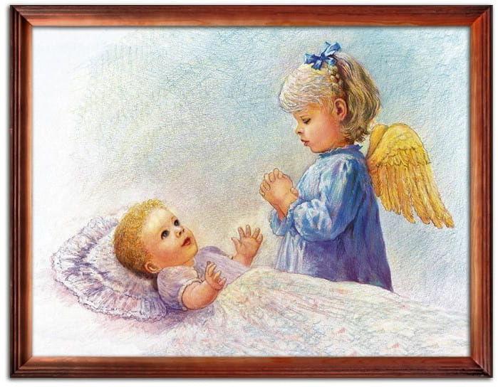 Obraz Anioła Stróża z dzieckiem