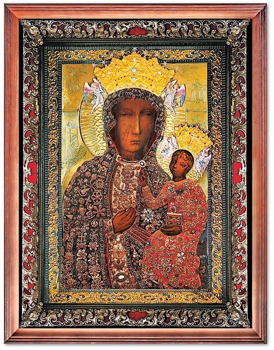 Cudowny Obraz Matki Bożej Jasnogórskiej w sukience rubinowej
