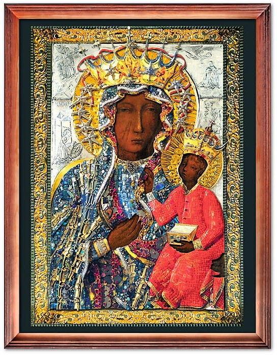 Cudowny Obraz Matki Bożej Jasnogórskiej w sukience wdzięczności Narodu Polskiego