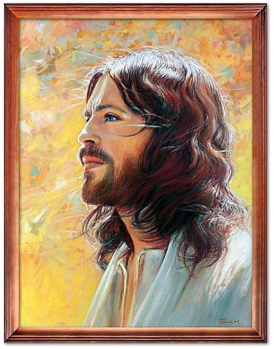 Obraz religijny z Jezusem Chrystusem