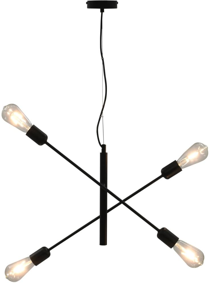 Czarna lampa wisząca z ruchomymi ramionami - EX83-Lanko