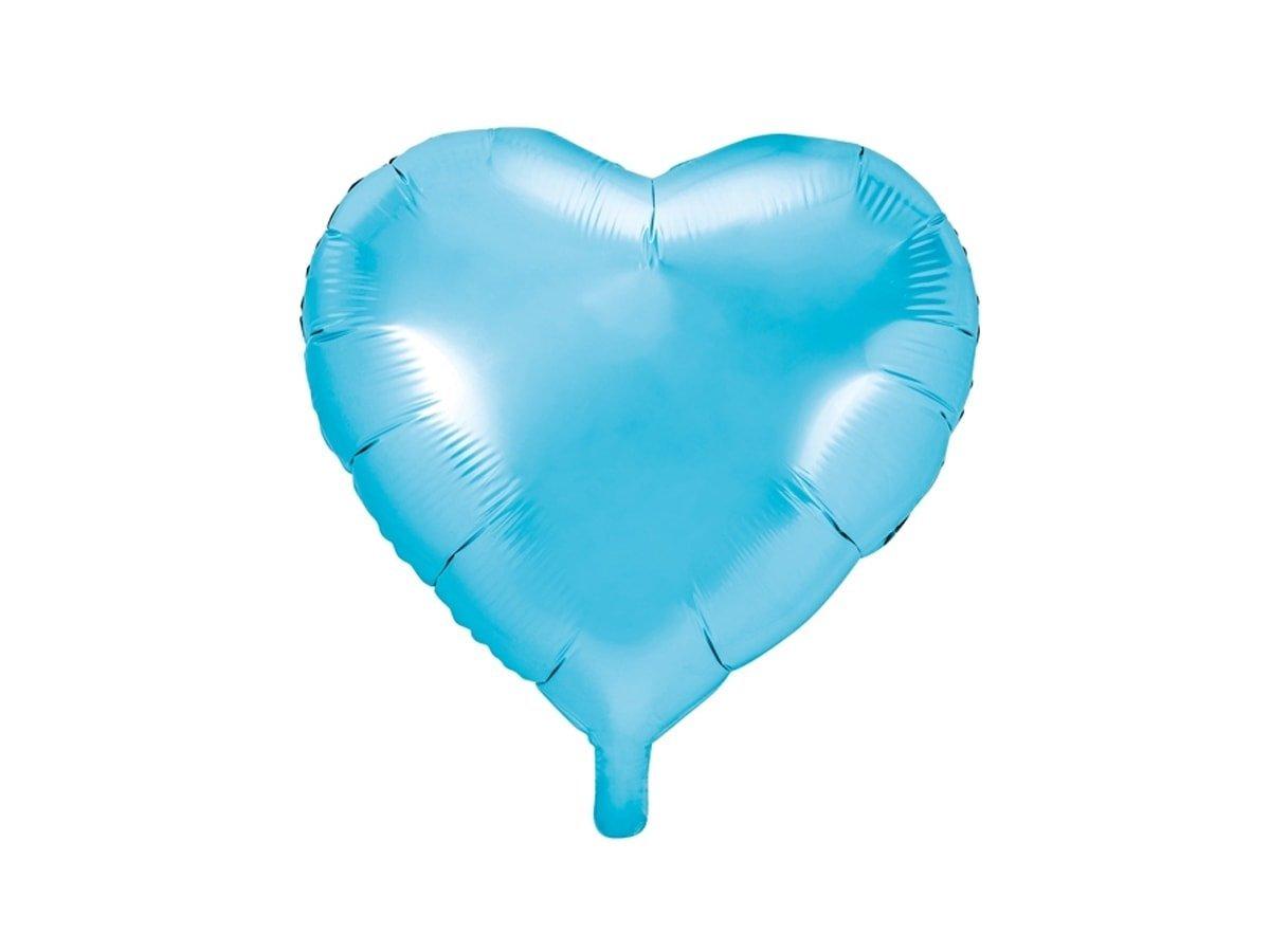 Balon foliowy Serce błękitne - 45 cm - 1 szt.