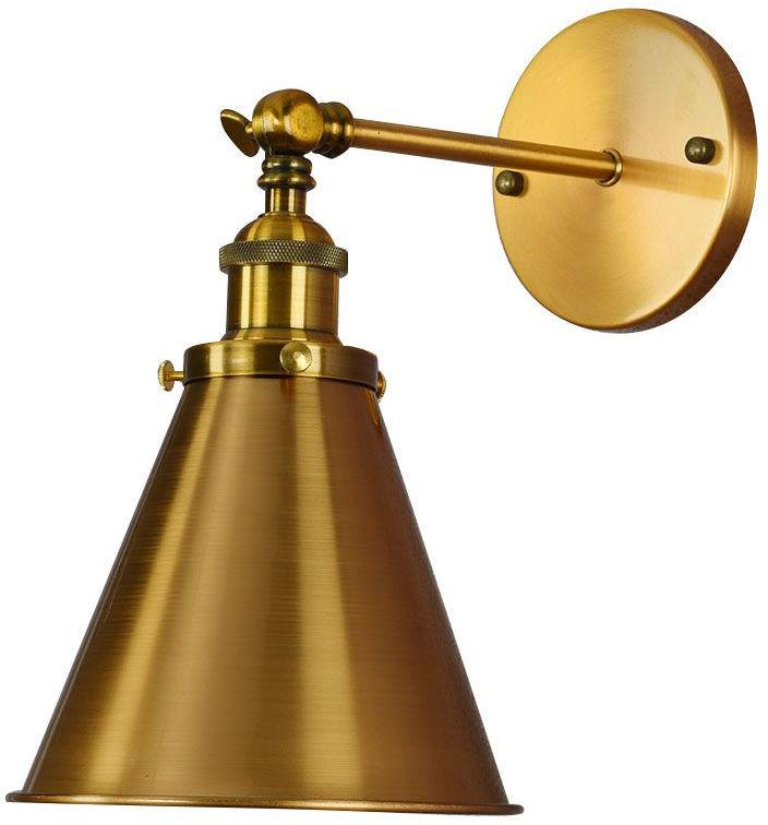 LAMPA ŚCIENNA KINKIET LOFTOWY MOSIĘŻNY RUBI W1
