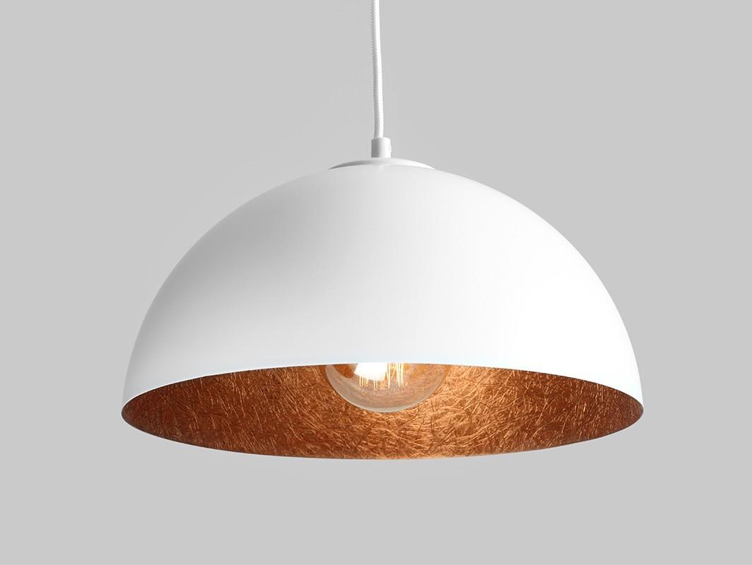 Lampa wisząca LORD 35 - miedziano-biały - Customform