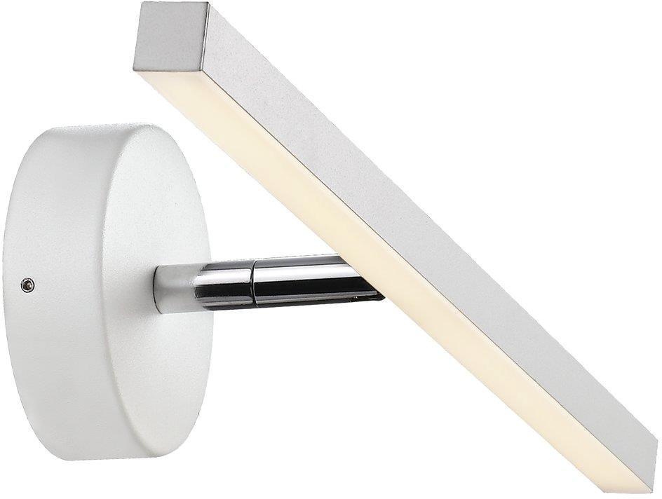 Kinkiet nad lustro IP S13 40 83061001 Nordlux podłużna oprawa ścienna w kolorze białym