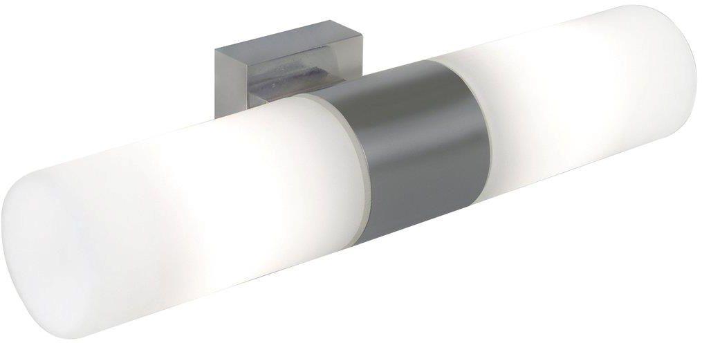 Kinkiet łazienkowy Tangens 17141032 Nordlux podwójna oprawa ścienna w kolorze stalowym