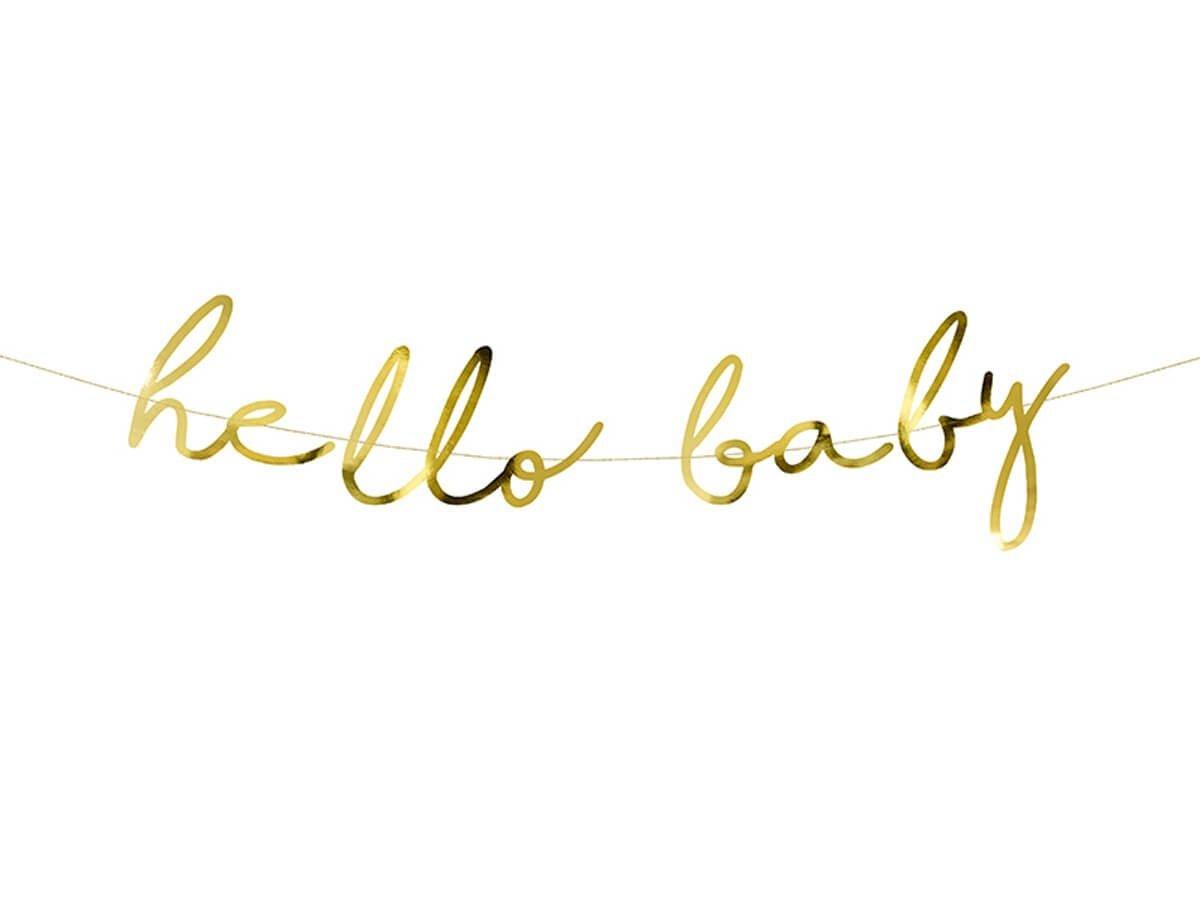 Baner na Baby Shower Hello Baby - 1 szt.