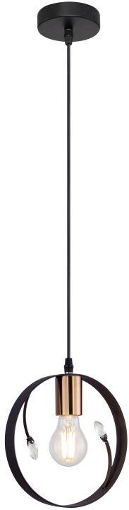 Globo VIGO 15346-1 lampa wisząca czarny 1xE27 60W 20cm