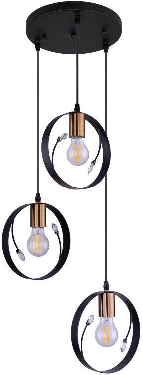 Globo VIGO 15346-3 lampa wisząca czarna 3xE27 60W 39cm