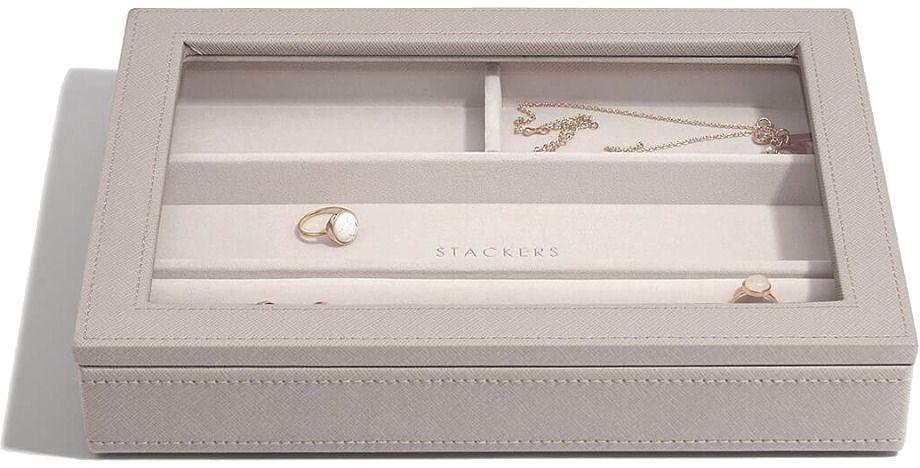 Organizer na pierścionki/bransoletki z pokrywką (taupe) Classic Stackers