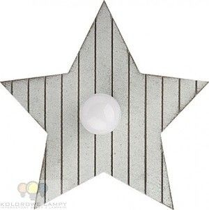 Kinkiet lampa ścienna TOY-STAR GRAY 9376 szary sklejka stal lakierowana Nowodvorski -