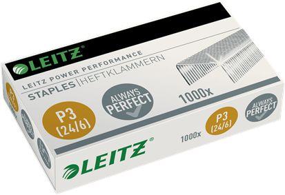 Zszywki Leitz Power Performance P3 24/6 mocne stalowe opakowanie 1000 zszywek