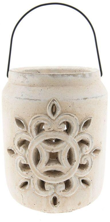 Lampion ażurowy postarzany TOSCANA latarnia na świeczkę