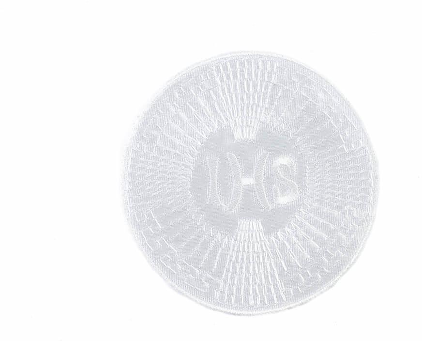 Emblemat haftowany na I Komunię Świętą IHS - 1 szt.