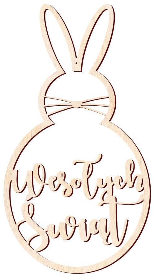 Zajączek Wielkanocny z drewna - 58 cm - 1 szt.