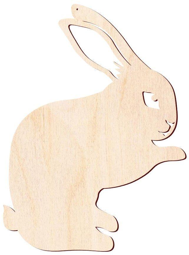 Zajączek Wielkanocny drewniany - 55 cm - 1 szt.