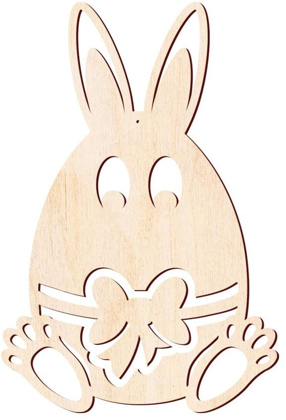 Jajko-Zajączek Wielkanocny drewniany - 57 cm - 1 szt.