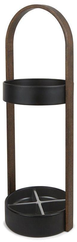 Umbra - stojak na parasole - bellwood - czarno-orzechowy
