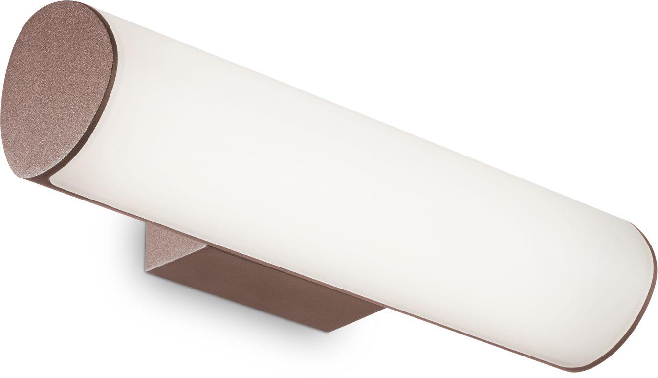 Kinkiet Etere 246949 Ideal Lux zewnętrzna lampa ścienna w kolorze kawy
