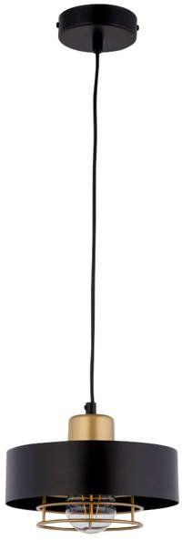 Nowoczesna lampa wisząca POKER 1 czarny/złoty 32060