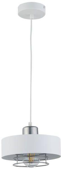 Nowoczesna lampa wisząca POKER 1 biały/srebrny 32063