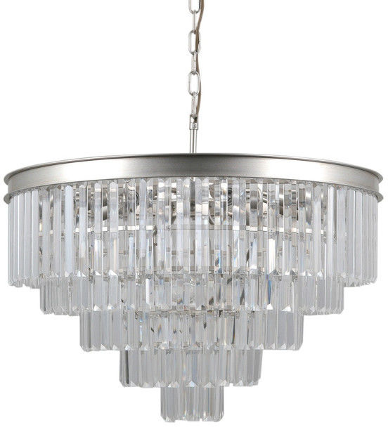 Verdes lampa wisząca 11-punktowa srebrna PND-44372-11A-SLVR-BRW
