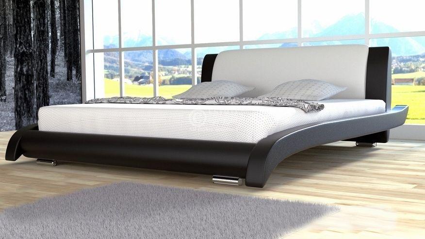 Łóżko do sypialni Lotos - skóra ekologiczna