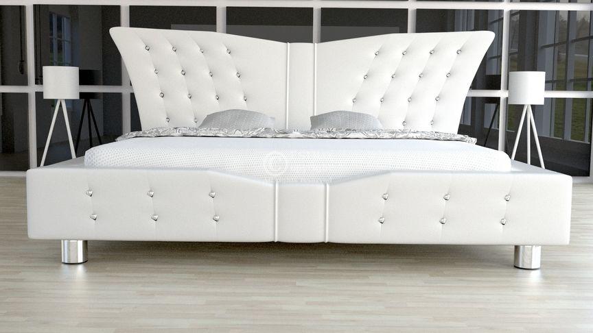 Łóżko tapicerowane Angel z kryształami 140x200