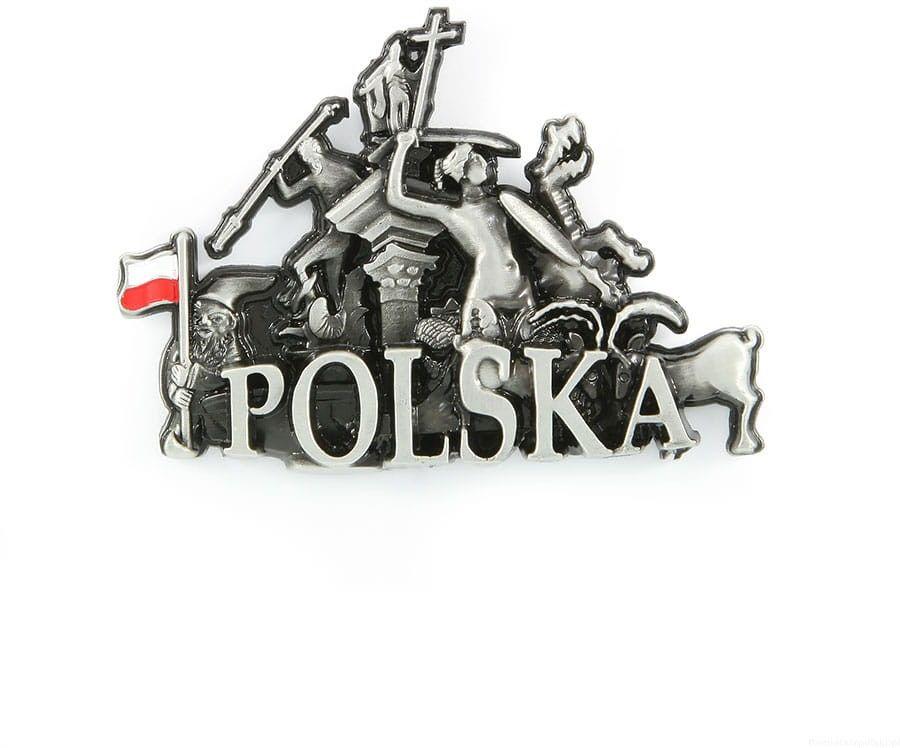 Magnes metalowy panorama Polska pomniki