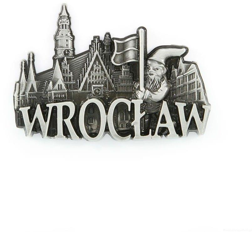 Magnes metalowy panorama Wrocław