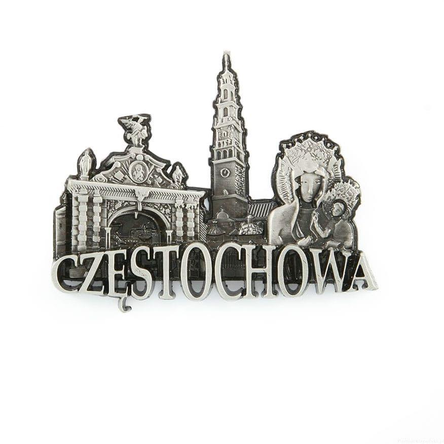Magnes metalowy panorama Częstochowa