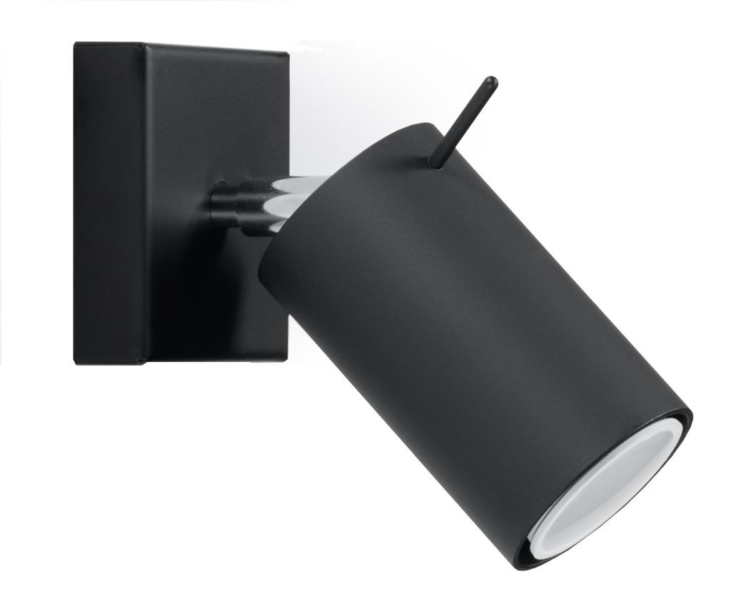 Kinkiet Ring czarny regulowany tuba SL.0091 - Sollux Do -17% rabatu w koszyku i darmowa dostawa od 299zł !