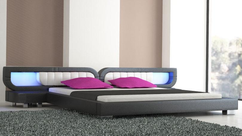 Łóżko do sypialni Harmony Led-2 200x220