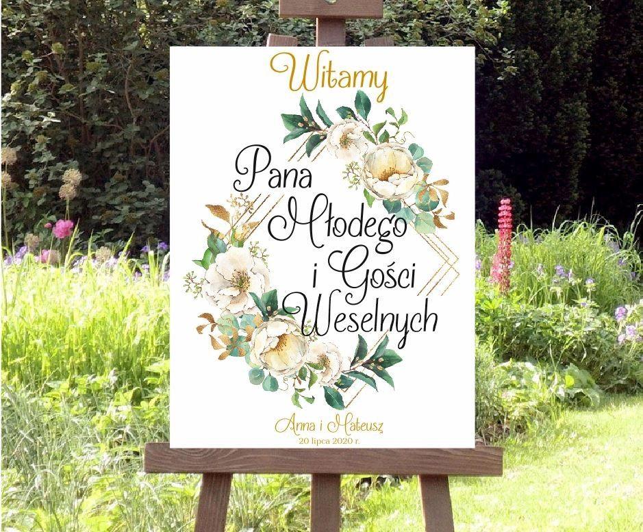 Plansza powitalna - Białe Kwiaty