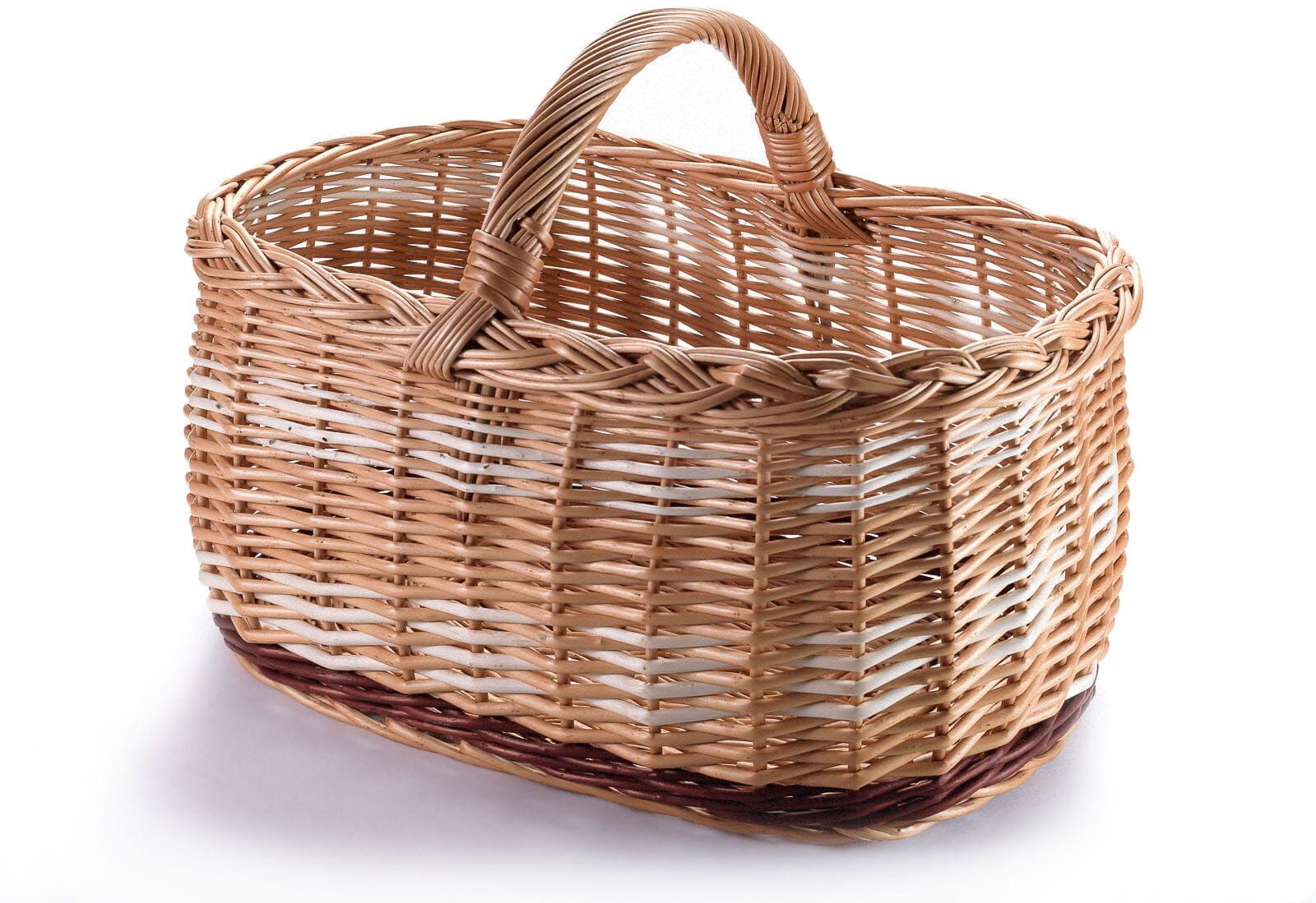Wiklinowy kosz bagażowy Tyrolczyk na zakupy
