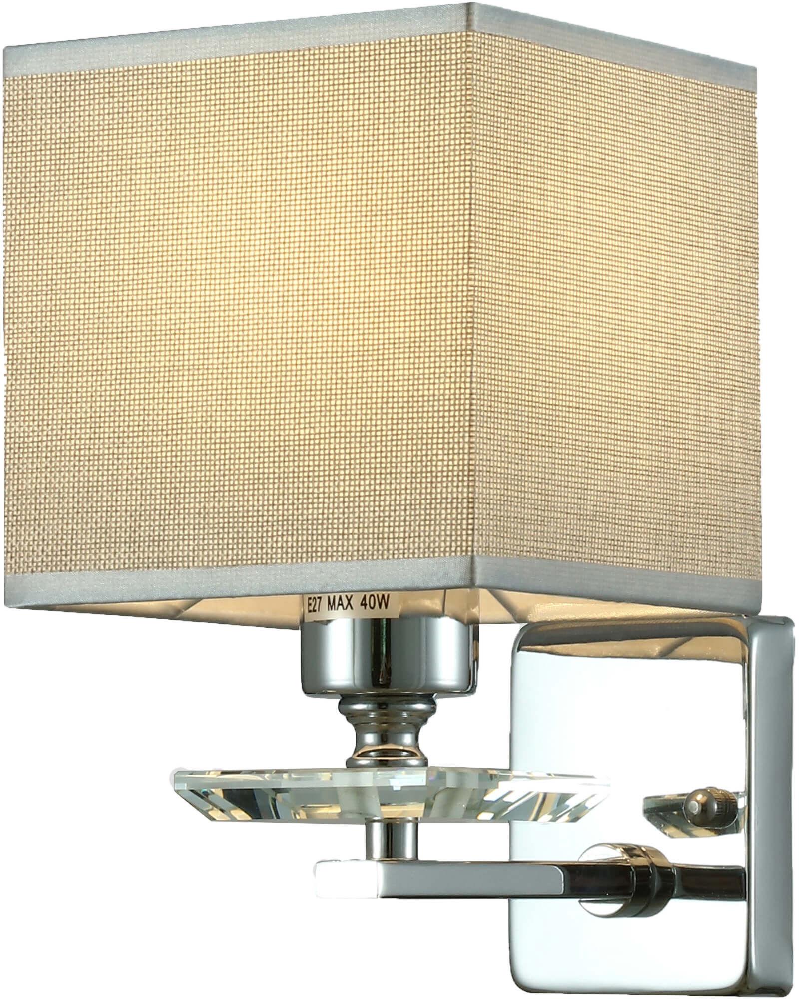 LAMPA ŚCIENNA KINKIET CHROMOWANY LINIANO W1