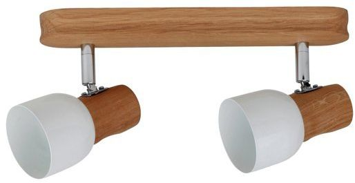 SPOTLIGHT lampa sufitowa dwu punktowa SVANTJE z drewna dębu 2239274