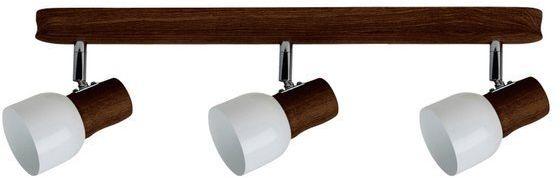 SPOTLIGHT lampa sufitowa 3 punktowa SVANTJE z drewna bukowego w kolorze orzech 2239376