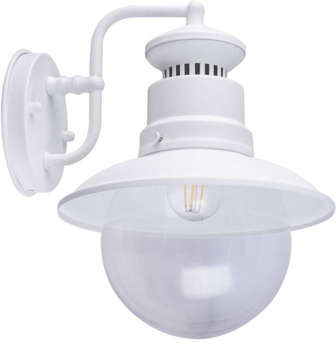 Globo SELLA 3272W kinkiet lampa ścienna zewnętrzna biały mat 1xE27 21,5 cm IP44