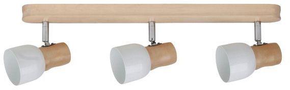 SPOTLIGHT lampa sufitowa 3 punktowa SVANTJE z drewna brzozowego 2239360